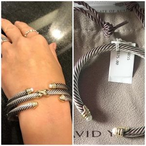 MOTHER'S DAY!!!DAVID YURMAN PEARL CABLE BRACELET🤩